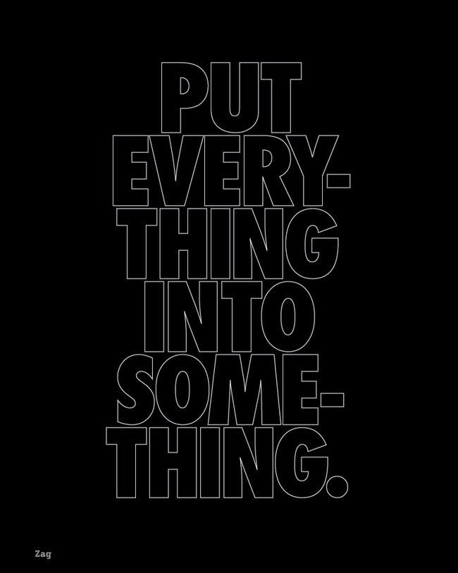 advice typography