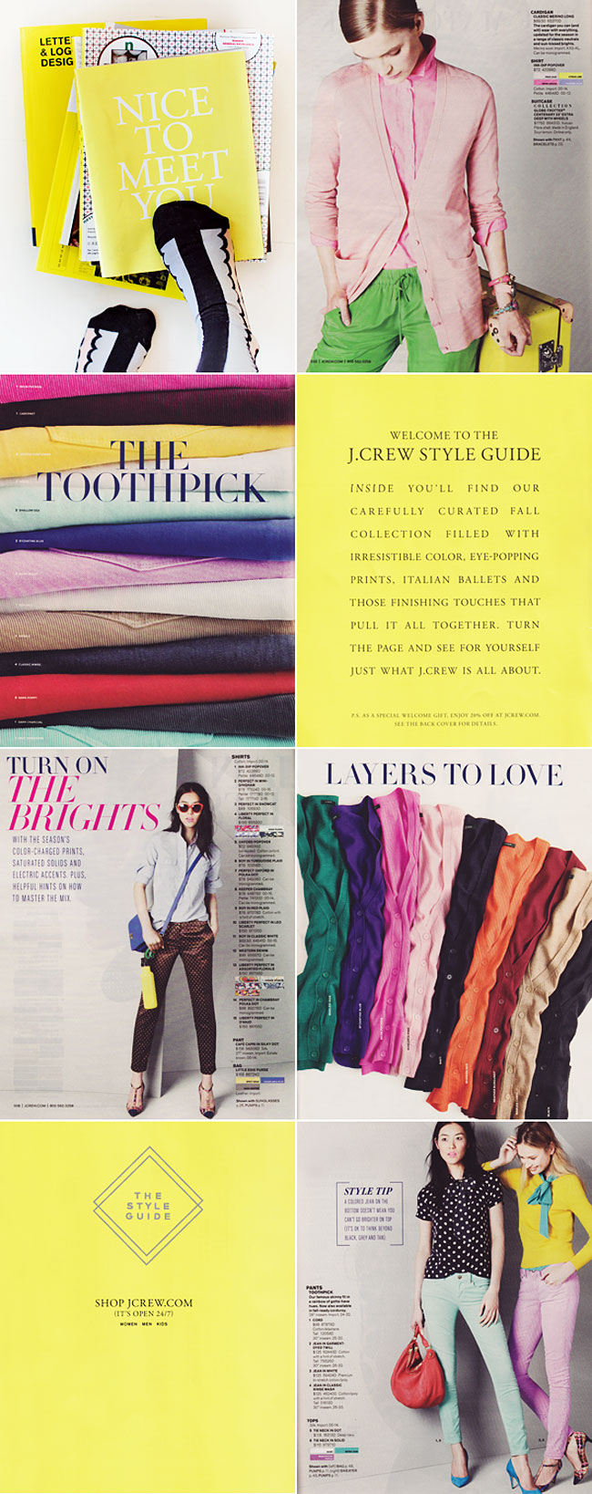Typofiles J Crew Style Guide