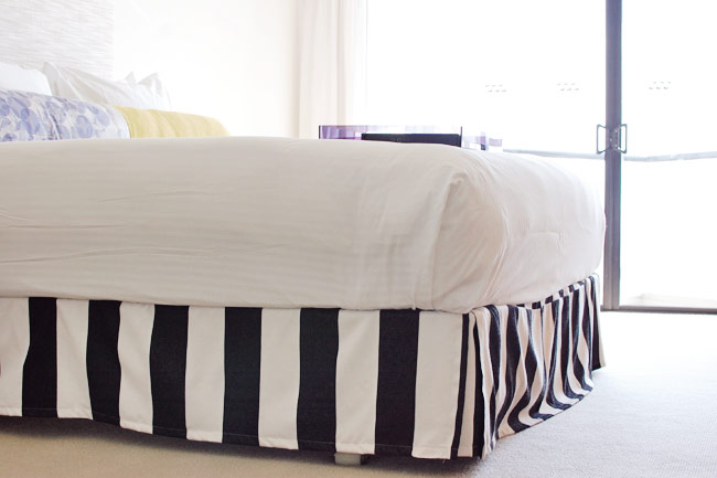 Black And White Striped Bed Skirt 78