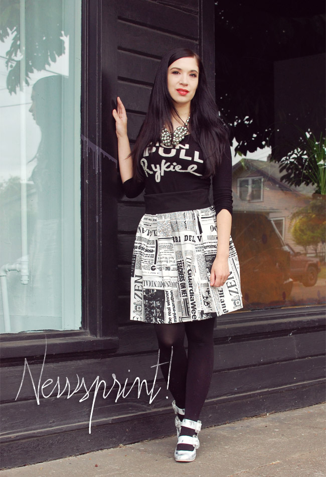 What I Wore: Newsprint