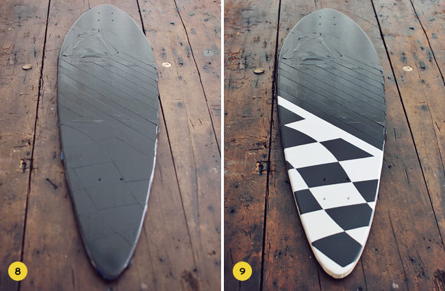 scotch blue tape DIY skate deck