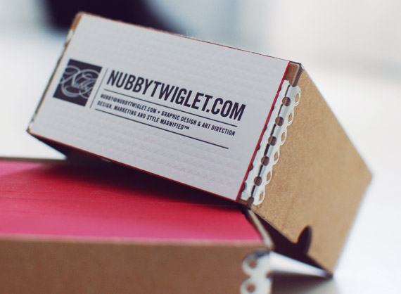 nubby twiglet letterpress business cards