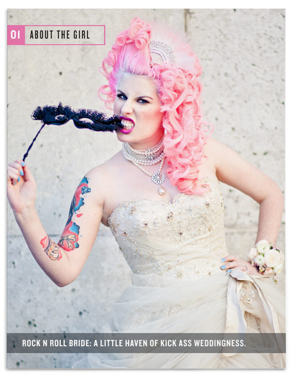 rock n roll bride design nubby twiglet
