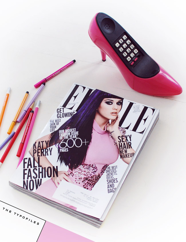 Typofiles Elle September 2012 Katy Perry